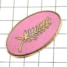 ピンバッジ・金賞パルムドール椰子の葉っぱピンク色カンヌ映画祭
