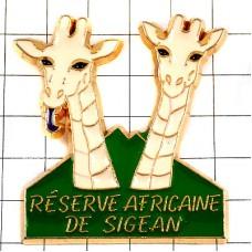 ピンバッジ・キリン南仏シジャンのアフリカ動物園
