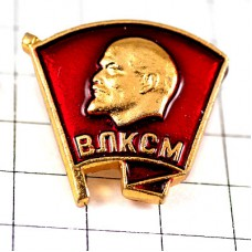 ブローチ・レーニン肖像ソ連ロシア語アルミニウム製