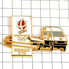 ピンバッジ・ルノー車アルベールビル冬季オリンピック五輪トラック一台