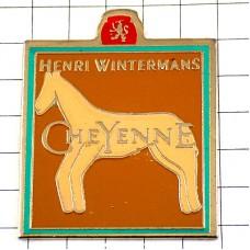 ピンバッジ・馬の絵プリミティブ芸術ヘンリーウィンターマンズ煙草