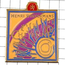 ピンバッジ・太陽の抽象画タバコ会社ヘンリーウィンターマンズ社オランダ煙草