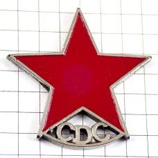 ピンバッジ・赤い星コミュニスト共産主義ピューター製