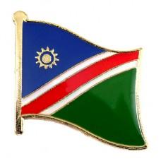 ピンズ・New!ナミビア国旗オバンボ族の色デラックス薄型キャッチ付き