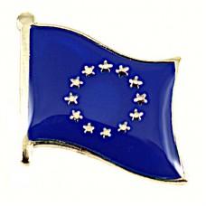 ピンズ・New!欧州旗ヨーロッパEU欧州連合の星の旗デラックス薄型キャッチ付き