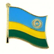 ピンズ・New!ルワンダ国旗デラックス薄型キャッチ付き太陽の光