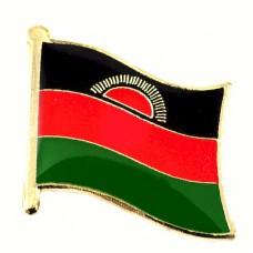 ピンズ・New!マラウイ国旗デラックス薄型キャッチ付き夜明け日の出