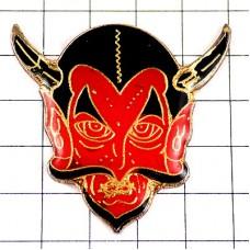 ピンバッジ・赤いデビル悪魔の顔