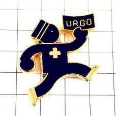 ピンバッジ・薬を運ぶ青い男URGO医療
