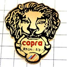 ピンバッジ・ライオンの頭ゴールド金色