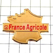 ピンズ・フランスの農業ゴールド金色の地図型