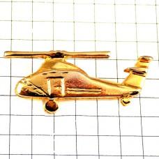 ピンバッジ・金色ヘリコプター航空機