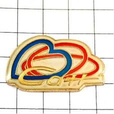 ピンズ・青いハート赤い輪リング指輪