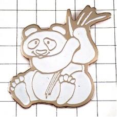 ピンズ・真っ白いパンダと笹の葉
