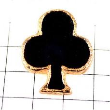 ピンズ・三つ葉のクローバー黒トランプ札