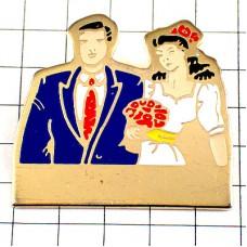 ピンズ・結婚式の花嫁と花婿