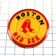 ピンバッジ・ボストンレッドソックス野球メジャーリーグ赤い靴下ボール白球