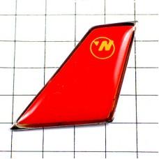ピンバッジ・飛行機の尾翼ノースウエスト航空デルタ航空