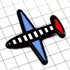 ピンバッジ・飛行機トリコロール青白赤