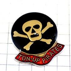ピンズ・暴走族の海賊ドクロ髑髏マーク骨