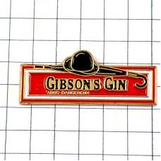 ピンズ・ギブソン酒ジン帽子ロンドン紳士の傘
