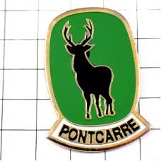ピンバッジ・鹿ハンティング狩猟
