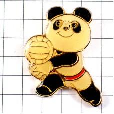 ピンバッジ・パンダのバレーボール選手ボール北京アジア競技大会1990年