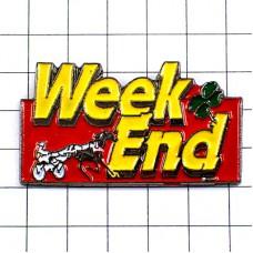 ピンズ・週末の競馬四つ葉のクローバー幸運