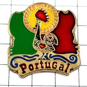 ピンズ・ポルトガル国旗とニワトリ雄鶏