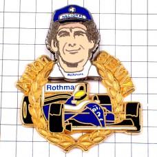 ピンズ・アイルトンセナF1ドライバー車レーサー英雄