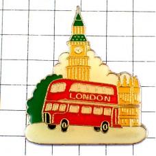 ピンズ・赤いロンドン2階建てバス時計塔イギリス英国