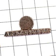 ピンバッジ・アエロスパシアル社シルバー銀色ロゴ航空