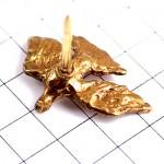 ピンバッジ・ゴールド金色の鳩ハト鳥