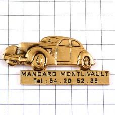 ピンズ・オールドカー車ゴールド金色