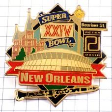ピンズ・ニューオーリンズ第24回スーパーボウル/USAデンバーブロンコス音楽クラリネット楽器