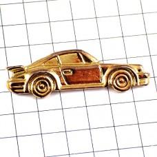 ピンズ・金色のポルシェ車