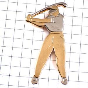 ピンズ・ゴルファー金と銀コンビ色ゴルフ選手