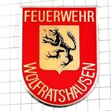 ブローチ・消防署ヴォルフラーツハウゼン狼の紋章
