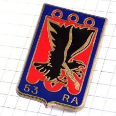 ブローチ・第53砲兵連隊フランス軍イーグル黒いワシ鷲