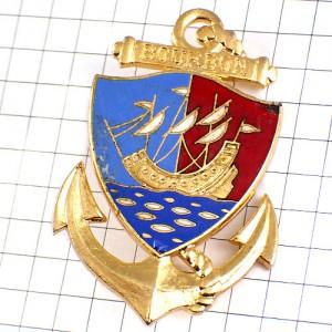ブローチ・帆船フランス海兵隊ブルボン軍イカリ錨