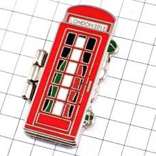 ピンズ・コカコーラ五輪オリンピック英国ロンドン赤い電話ボックス「ようこそ」イタリア語