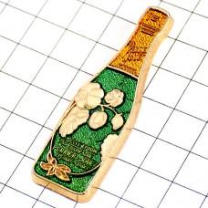 ピンズ・ペリエジュエ瓶シャンパーニュ酒ベルエポック花ガレのアネモネ一本