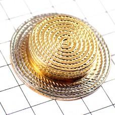 ピンズ・金色の麦わら帽子シルバーコンビ色