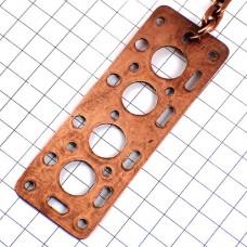 キーホルダー・シリンダーヘッド部品エンジン車コパー銅色