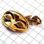 ピンズ・ヴェニスのカーニバル金色のマスク仮面