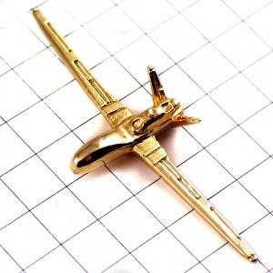 ピンズ・RQ-1プレデター無人航空機ミリタリーアメリカ軍/USAゴールド金色