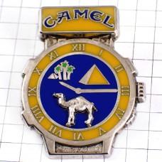 ピンズ・キャメル煙草ピラミッド腕時計ラクダ駱駝シルバー銀色