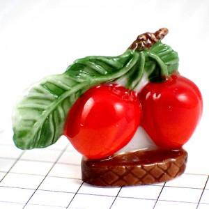 フェブ・さくらんぼ2個サクランボ真っ赤なチェリー果物
