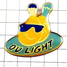 ピンズ・オランジーナ瓶サングラス眼鏡ライト青