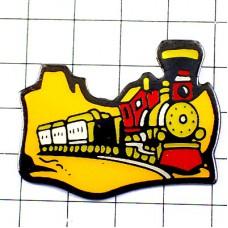 ピンバッジ・蒸気機関車メキシコの荒野を走るトレイン鉄道